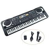 Kids Piano,Sanmersen 61 Key Multi-function Portable Electronic Organ Music Piano Keyboard Organ Musical Teaching Keyboard Toy With Microphone for Children Gift