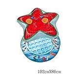 Global- forma de estrella de mar de dibujos animados beb� inflable de la piscina, piscina para ni�os, ba�eras para ni�os juguetes de ba�o ( Tama�o : 102*86cm )