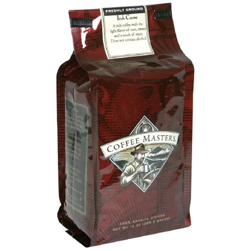 Coffee Masters Flavored Coffee, Irish Creme, Ground, 12-Ounce Bags (Pack of 4)