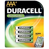 Duracell Rechargeable AAA NiMH Batteries, MIGNON/HR03/DC2400 (4 Batteries)