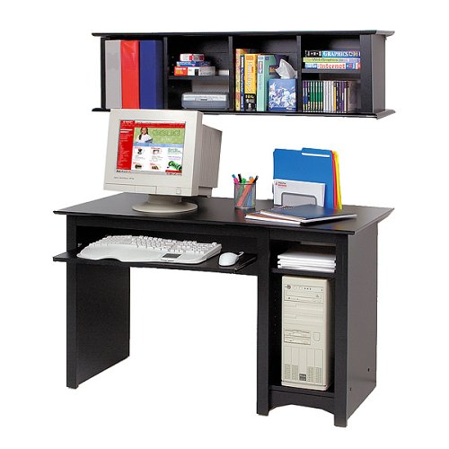 Buy Low Price Comfortable Prepac Black Computer Desk and Hutch (B0001WD7AC)