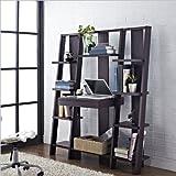 Altra Furniture Ladder Bookcase with Desk, Espresso