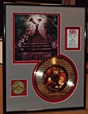 """Led Zeppelin""""Stairway To Heaven"""" Framed 24Kt Gold Record Etched W/Lyrics Rare Music Memorabilia"""