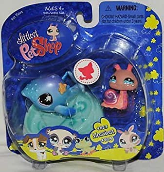 Littlest Pet Shop Series 3 Collectible Figure Snail and Whale by Hasbro