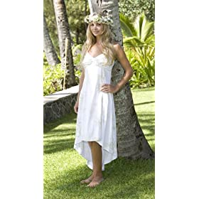 simple Hawaiian beach wedding dress
