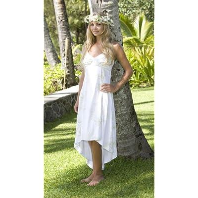 Princess Kamamalu Hawaiian Wedding Dress - Alii Collection Hawaiian Print Beach Wedding Dress