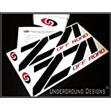 "Z71 OFF ROAD Chevy Fender Decal Tailgate Sticker 15"" GLOSS BLACK & RED ~ UNDERGROUND DECALS..."
