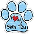 Imagine This Scribble Paw Magnet, Shih Tzu