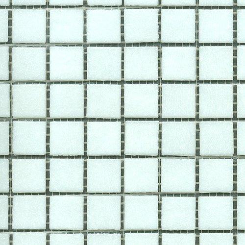 Glasmosaik uni weiß 20x20 (1 Matte)
