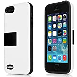 Ahha Archer Kickstand Back Case for Apple iPhone 5S / 5 - White / Black (A-KCIH5-0A21)