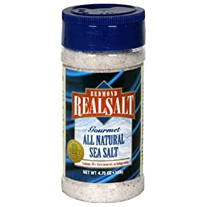 Redmond Real Salt Gourmet All Natural Sea Salt, 4.75-Ounce Shakers (Pack of 12)