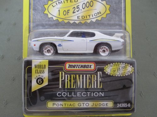 Pontiac GTO Judge (white) Matchbox Premiere Series 6 #34363-6 - 1