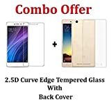 #5: Redmi 4A Tempered Glass + Back Cover [Combo Pack]