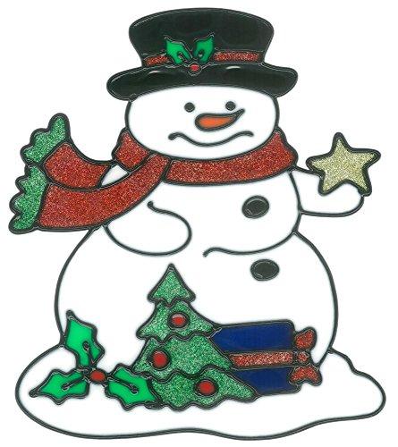 magicgel fensterbilder weihnachten schneemann mit stern. Black Bedroom Furniture Sets. Home Design Ideas