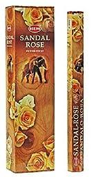 Sandal Rose - Hem Jumbo 16 Inch Incense Sticks 10 Stick Hexagon Box (Set of 6)