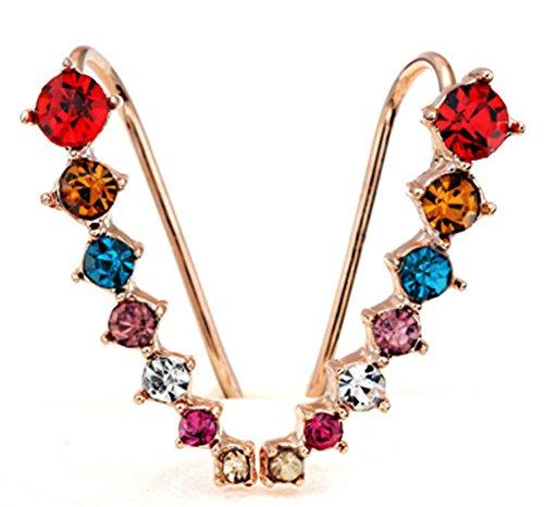 saysure-18-k-chapado-en-oro-gancho-de-oreja-stud-pendientes-rose-gold-and-multi