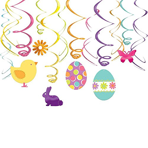 Easter Foil Swirl Hanging Decorations