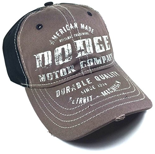 black-brown-dodge-motor-company-adjustable-velcro-hat