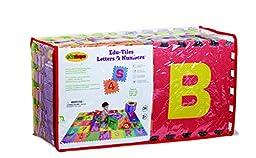 Edushape Edu-Tiles 36 Piece 6x6ft Play Mat, Letters & Numbers Set