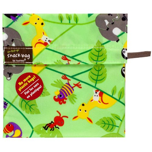 Kushies Baby Kushies On The Go Snack Bag, Aussie Print, Medium - 1