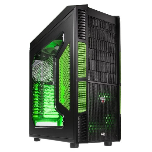 Aerocool X-Predator Evil Full Tower Gaming Case with No PSU and Green LED Fans - Green Black Friday & Cyber Monday 2014