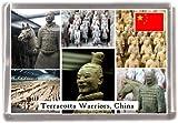 cheekymonkeydesigns terracotta warriors china Quality Refrigerator Magnet Gift Souvenior