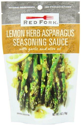 Red Fork Seasoning Sauce, Lemon Herb Asparagus, 4 Ounce (Pack of 8)