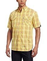 Rocawear Men's Short Sleeve Beach Plaid Shirt