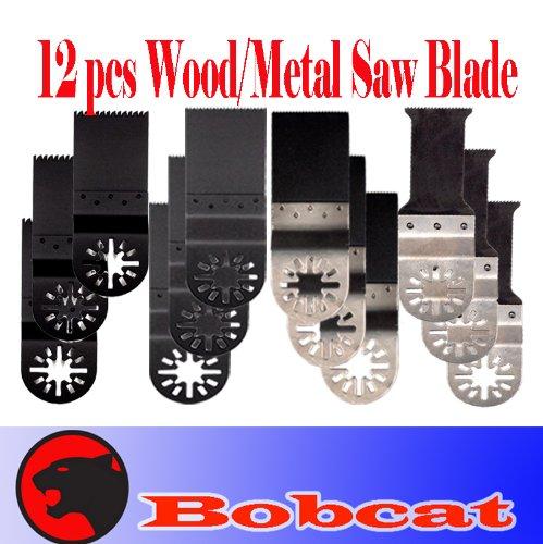 Pack Of 12 E-Cut Bi-Metal Japan / Fine Wood Metal Oscillating Multi Tool Saw Blade For Fein Multimaster Bosch Multi-X Craftsman Nextec Dremel Multi-Max Ridgid Dremel Chicago Proformax Blades