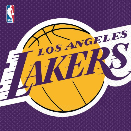 Amscan Los Angeles Lakers Basketball - Lunch Napkins (16)