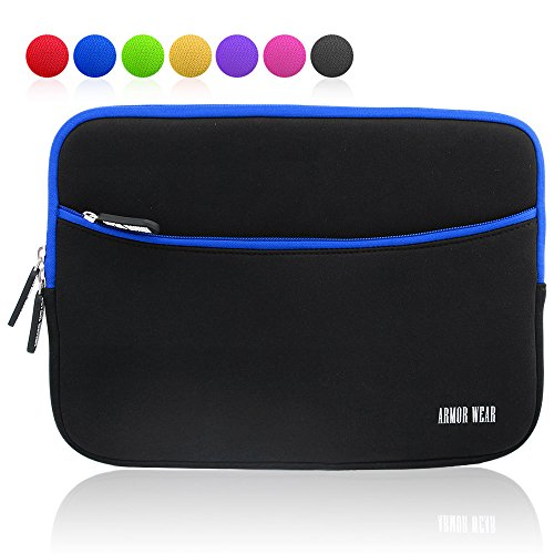 armor-wear-101-inch-shockproof-sleeve-case-with-accessory-pocket-for-tablets-black-blue