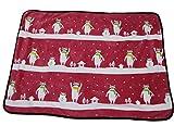 (ディックス)DICS ブランケット かわいい おくるみ ひざかけ 膝掛け 毛布 ねこ 猫 あったか ミニ (赤)