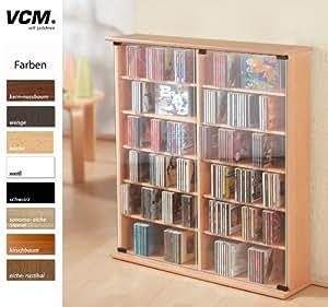"VCM 50409 VCM CD/DVD-Turm für ""Roma"" 300 CDs, ahorn"