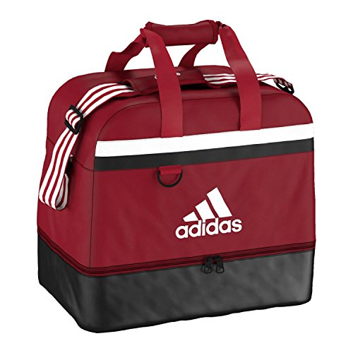 Adidas - Borsa sportiva Tiro 15 Teambag con scomparto inferiore S Power Red/White
