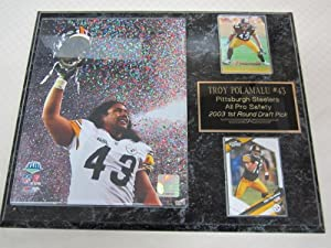 Pittsburgh Steelers Troy Polamalu 2 Card Collector Plaque Super Bowl by J & C Baseball Clubhouse