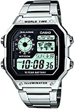 Comprar CASIO AE-1200WHD-1A - Reloj de pulsera, para hombre, color plateado