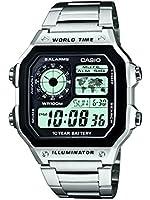 Casio - AE-1200WHD-1AVEF - Collection - Montre Homme - Quartz Digital - Cadran Noir - Bracelet Acier Argent