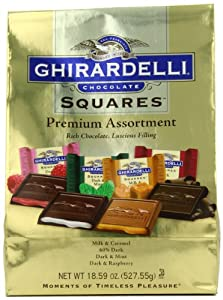 Ghirardelli SQUARES Premium Assortment (Gold), 18.59-Ounce Package