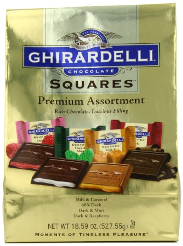 Ghirardelli SQUARES Premium Assortment (Gold),
