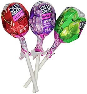 Jolly Rancher Fruit Chew Center Lollipops, 100(.56 oz)-Count 4-flavors