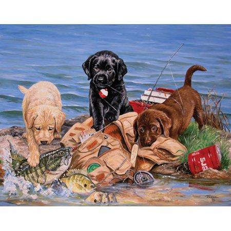 Cheap SunsOut Linda Picken 3 Little Fishermen Mini 100pc Jigsaw Puzzle (B001YJWNFQ)