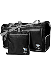 Bago Travel Duffel Bag For Women & Men - Foldable Duffle For Luggage Gym Sports