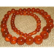 70 Grams! Vintage Genuine Baltic Egg Yolk Amber Round Beads Necklace. Natural! (55)