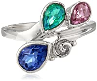 Sterling Silver Kunzite Caribbean and Sapphire Quartz Ring by Amazon Curated Collection