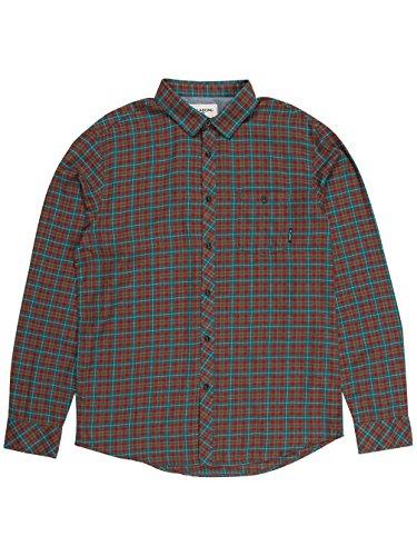 G.S.M. Europe-Billabong-Camicia da uomo Salvage Long Sleeve Woven, Uomo, Hemd SALVAGE Long Sleeve WOVEN, ocean, XXL