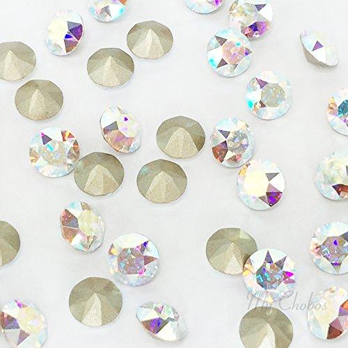 CRYSTAL AB (001 AB) Swarovski 1088 XIRIUS Chaton Round Stones pointed back rhinestones ss39 (8.16 - 8.41 mm) 18 pcs (1/8 gross) *FREE Shipping from Mychobos (Crystal-Wholesale)*