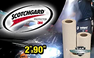 "3M Scotchgard Clear Bra Paint Protection Bulk Film Roll 2""-by-90""-inches by Car Protection Pros"