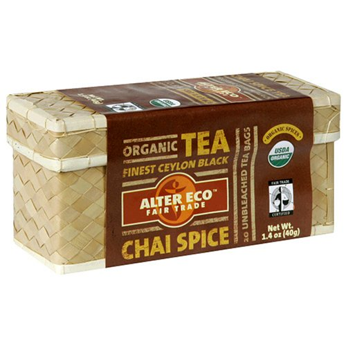 Buy Alter Eco Fair Trade Organic Tea, Chai Spice, Tea Bags, 20-Count Boxes (Pack of 6) (Alter Eco Fair Trade, Health & Personal Care, Products, Food & Snacks, Beverages, Tea, Black Teas)