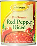 Roland Fire Roasted Diced Red Peppers, 28-Ounce Cans (Pack of 4)