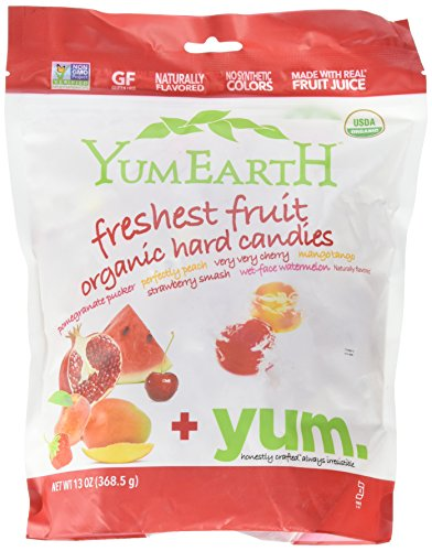YumEarth Organic Candy Drops, Freshest Fruit, 13 Ounce Bag (Pack of 4) (Fruit Drops Hard Candy compare prices)